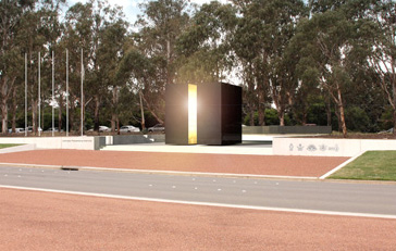 Memorial viewed from the median strip of ANZAC Parade